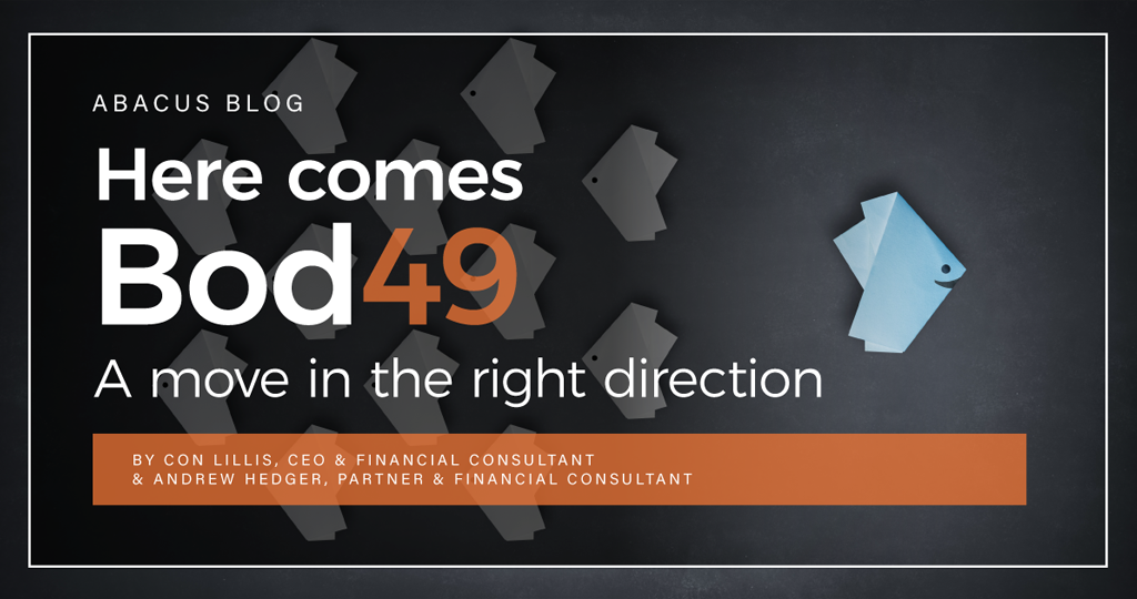 Here comes Bod 49 – A move in the right direction.
